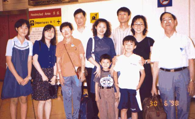 The whole family in Hong Kong